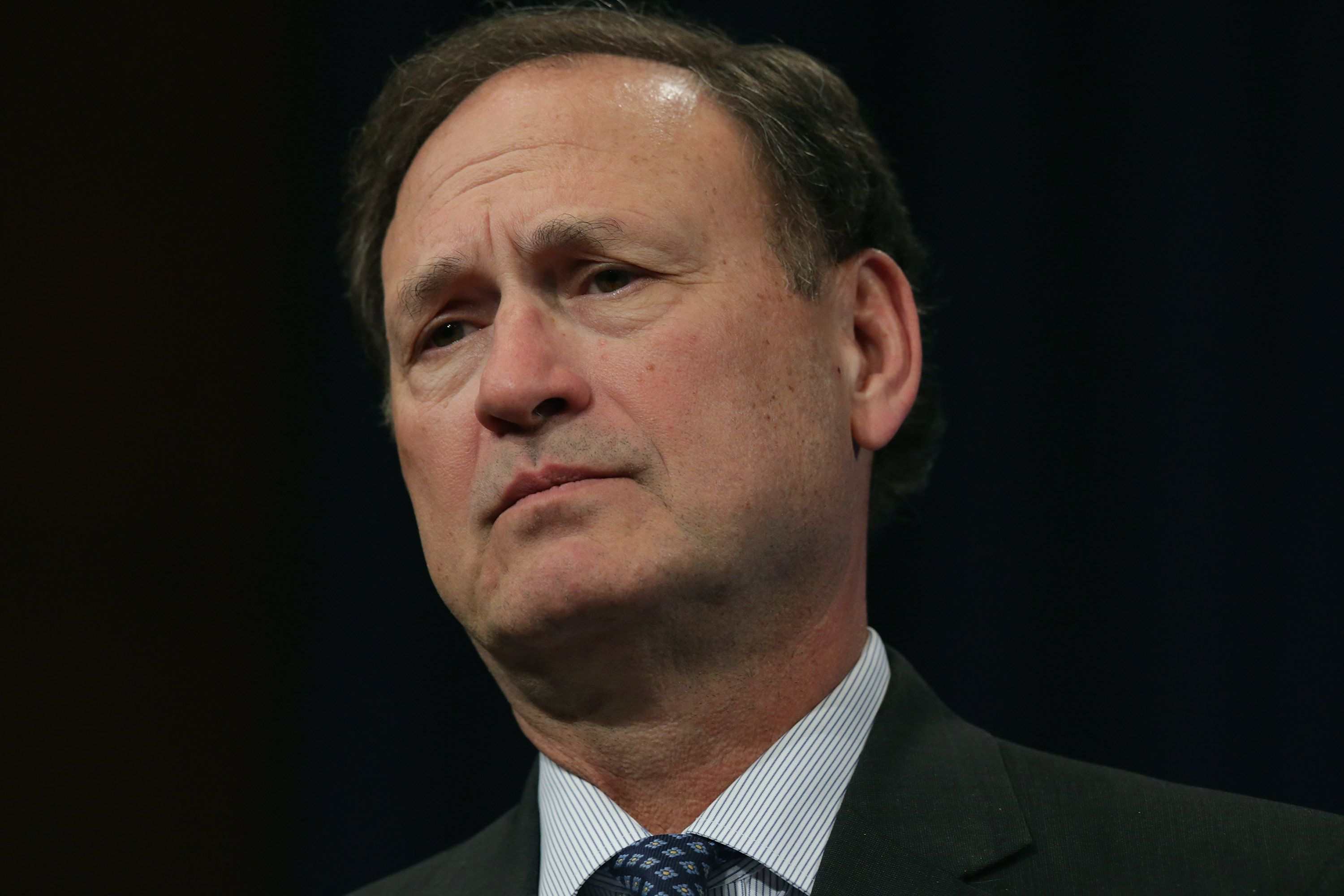 Justice Samuel Alito seems ready to cope with gridlock in the Senate over a replacement for his conservative colleague Antoni