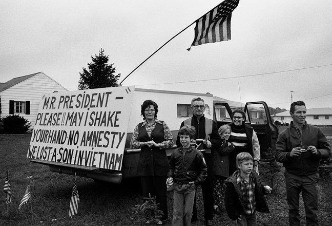 """No Amnesty,"" President Nixon campaigning, Ohio."