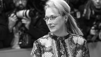 BERLIN, GERMANY - FEBRUARY 11: (EDITORS NOTE: The image is converted into black and white) Meryl Streep, wearing Prada, attends the 'Hail, Caesar!' Premiere during the 66th Berlinale International Film Festival on February 11, 2016 in Berlin, Germany. (Photo by Isa Foltin/WireImage)