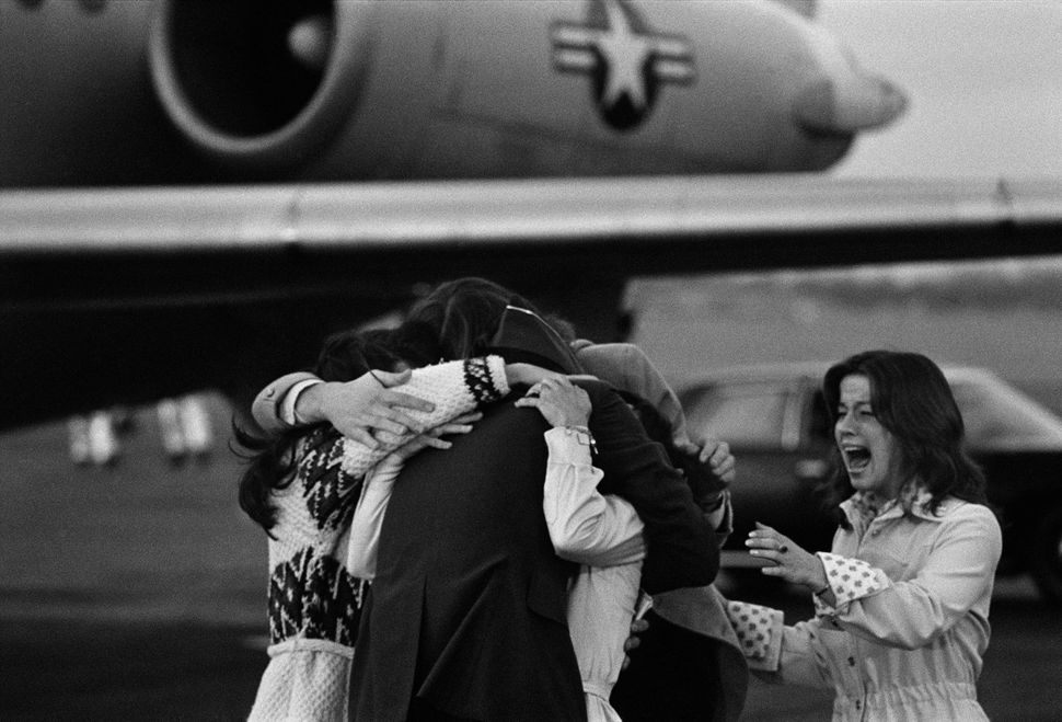 P.O.W. and family reunited, Wright-Patterson Air Force Base, Ohio