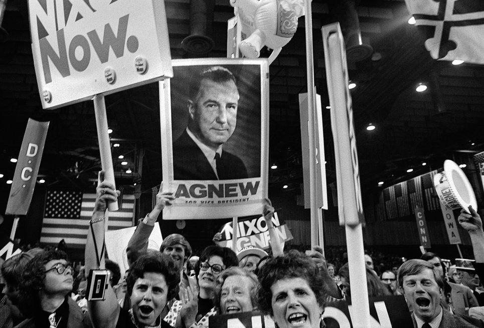 Nixon-Agnew supporters, Republican Convention, Miami Beach, Florida