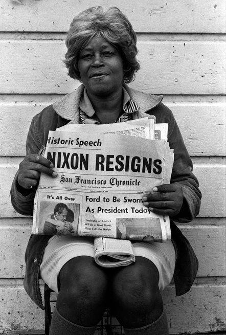 End of the Nixon era, West Oakland, California