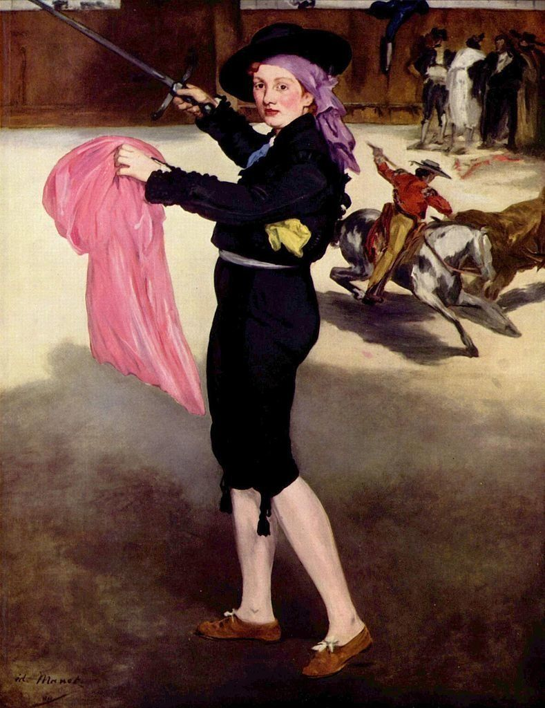 "Edouard Manet, ""Mlle Victorine Meurent in the Costume of an Espada,"" 1862, oil on canvas, 165,1 x 127.6 cm, The Metropolitan"
