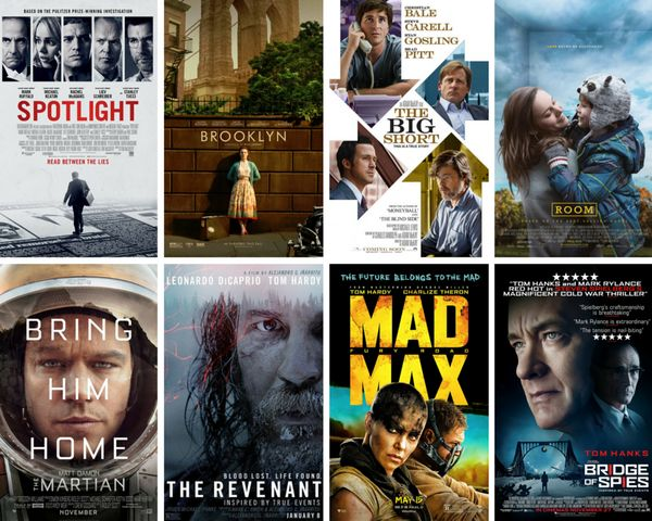 "<strong>Nominees:&nbsp;</strong>""The Big Short,"" ""Bridge of Spies,"" ""Brooklyn,"" ""Mad Max: Fury Road,"" ""The Martian,"" ""The Rev"