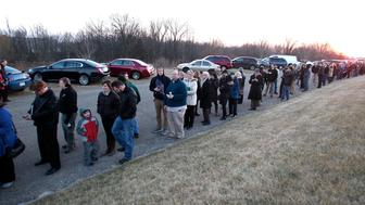GRAND RAPIDS, MI - FEBRUARY 22:  People line up for a campaign rally by Republican presidential candidate, Sen. Marco Rubio (R-FL) at Lacks Enterprises February 22, 2016 in Grand Rapids, Michigan. Rubio opted to campaign in Michigan rather than be in Nevada on the night of the Nevada caucuses. (Photo by Bill Pugliano/Getty Images)