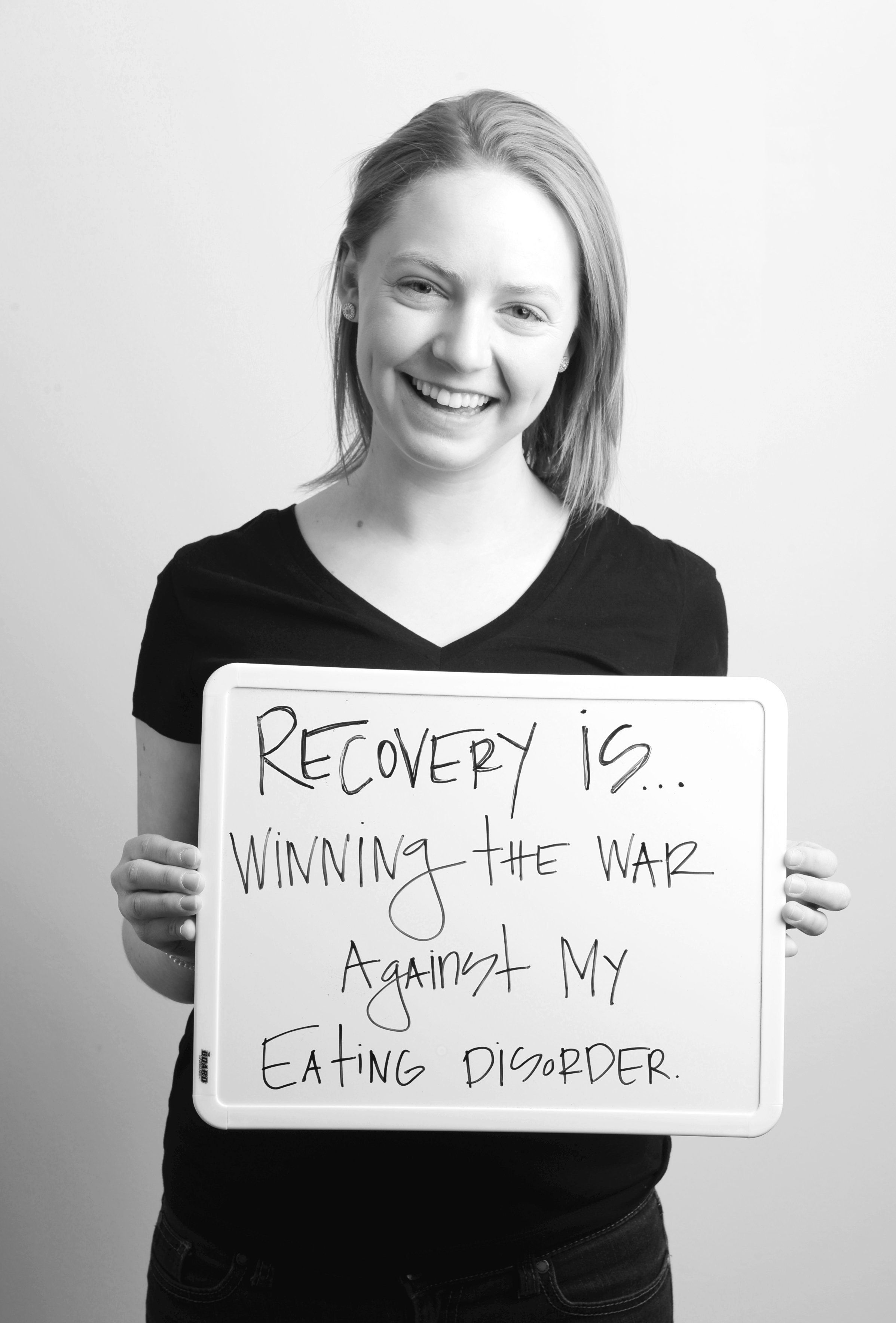 "For Project Heal's ""Recovery Is"" campaign, eating disorder survivors defined the word ""recovery."""