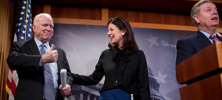 GOP Sens. John McCain, Kelly Ayotte and Lindsey Graham think President Obama shouldn't fill the Supreme Court vacancy.