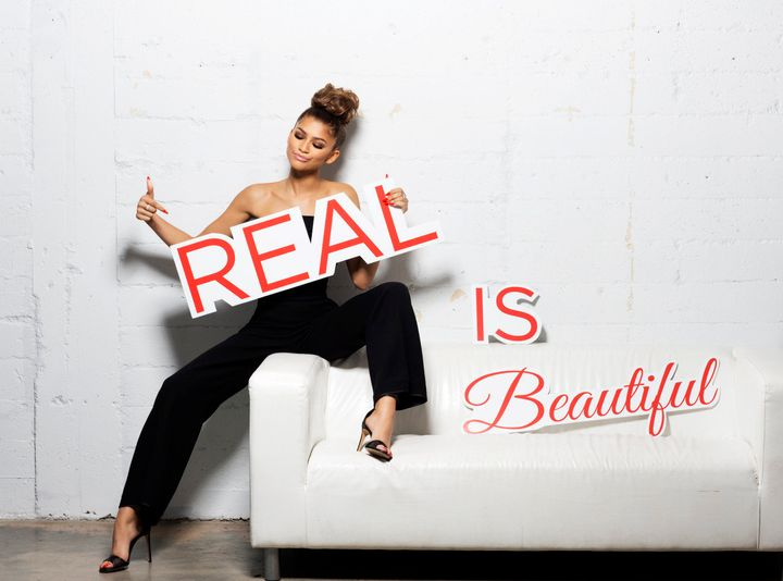 "Zendaya poses for her new ""Real is Beautiful"" campaign for Chi haircare."