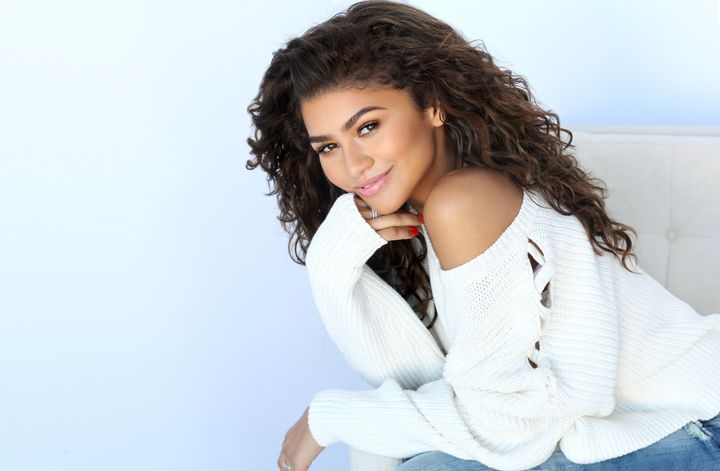 "Zendaya rocking her natural waves for Chi ""Real is Beautiful"" campaign."