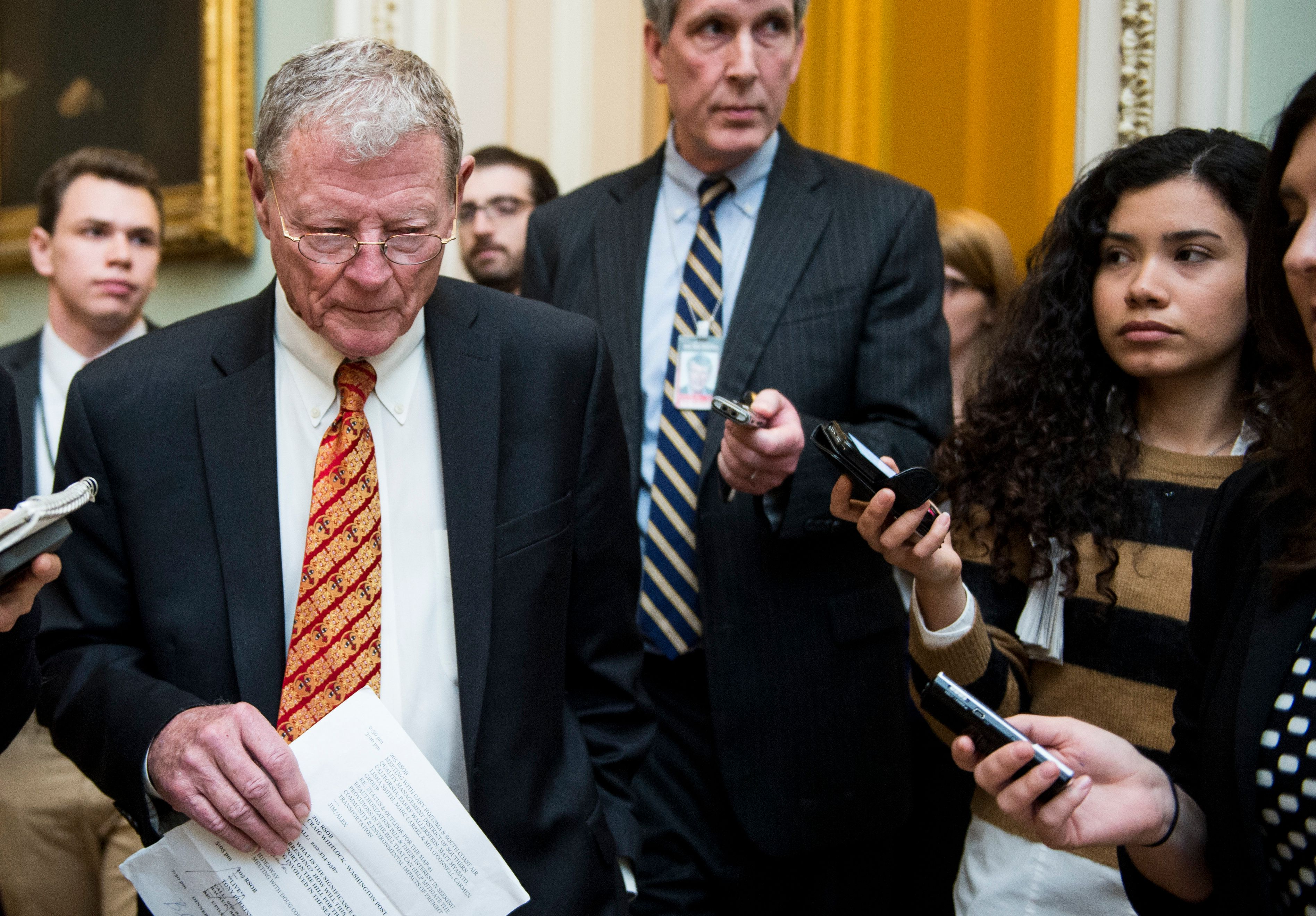 Sen. Jim Inhofe (R-Okla)says the funding measure will be voted on as a standalone bill.