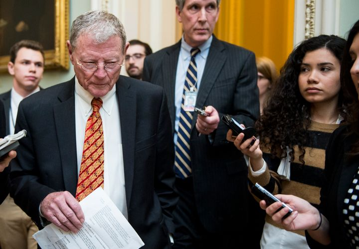 Sen. Jim Inhofe (R-Okla) says the funding measure will be voted on as a standalone bill.