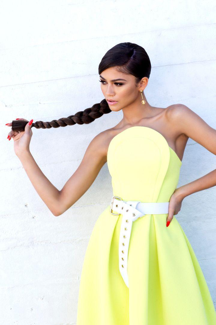 Whip that braided ponytail, Zendaya!
