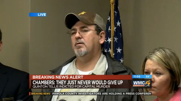 The victim'sfather, Ben Chambers, said his daughter never mentionedTellis to him.