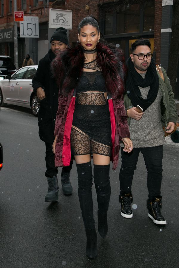 Arriving at aSports Illustrated Swimsuit event in New York, New York.