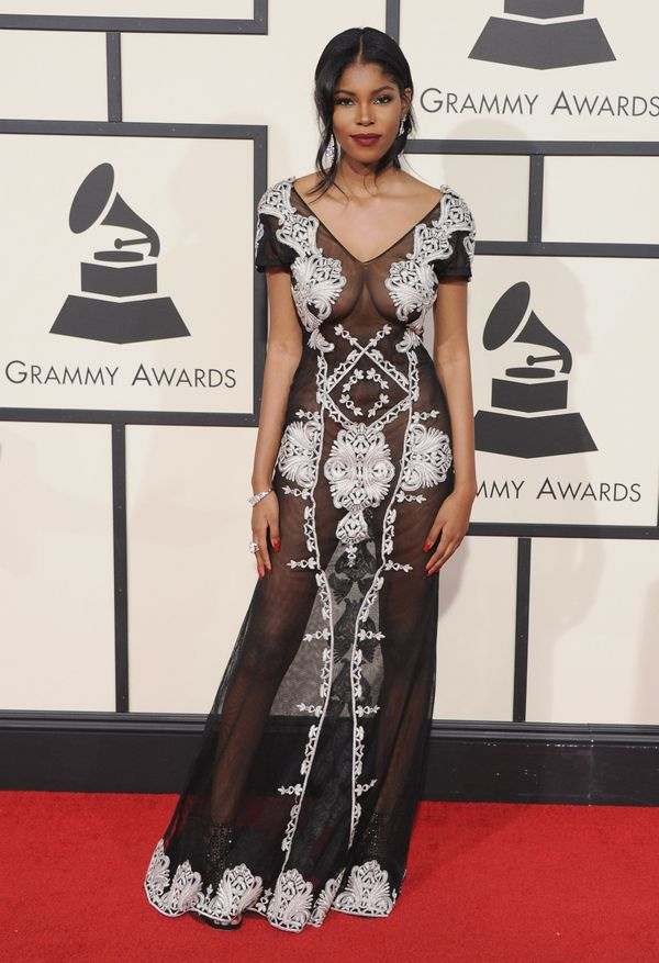 At the Grammys in Los Angeles, California.