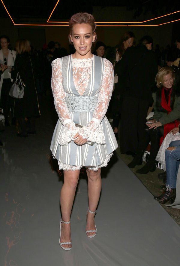 At theZimmermann show duringNew York Fashion Weekin New York, New York.