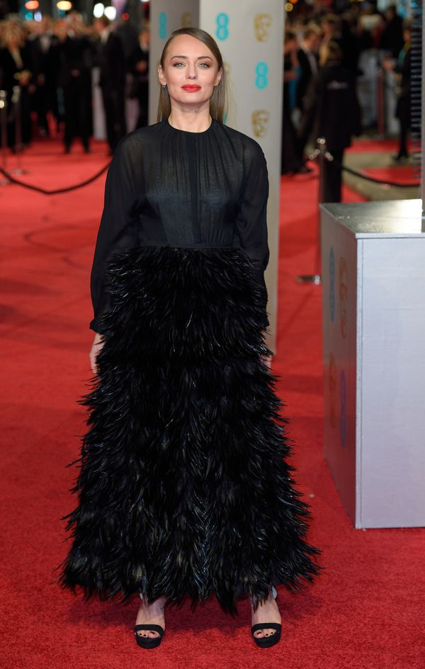 Atthe EE British Academy Film Awards in London, England.