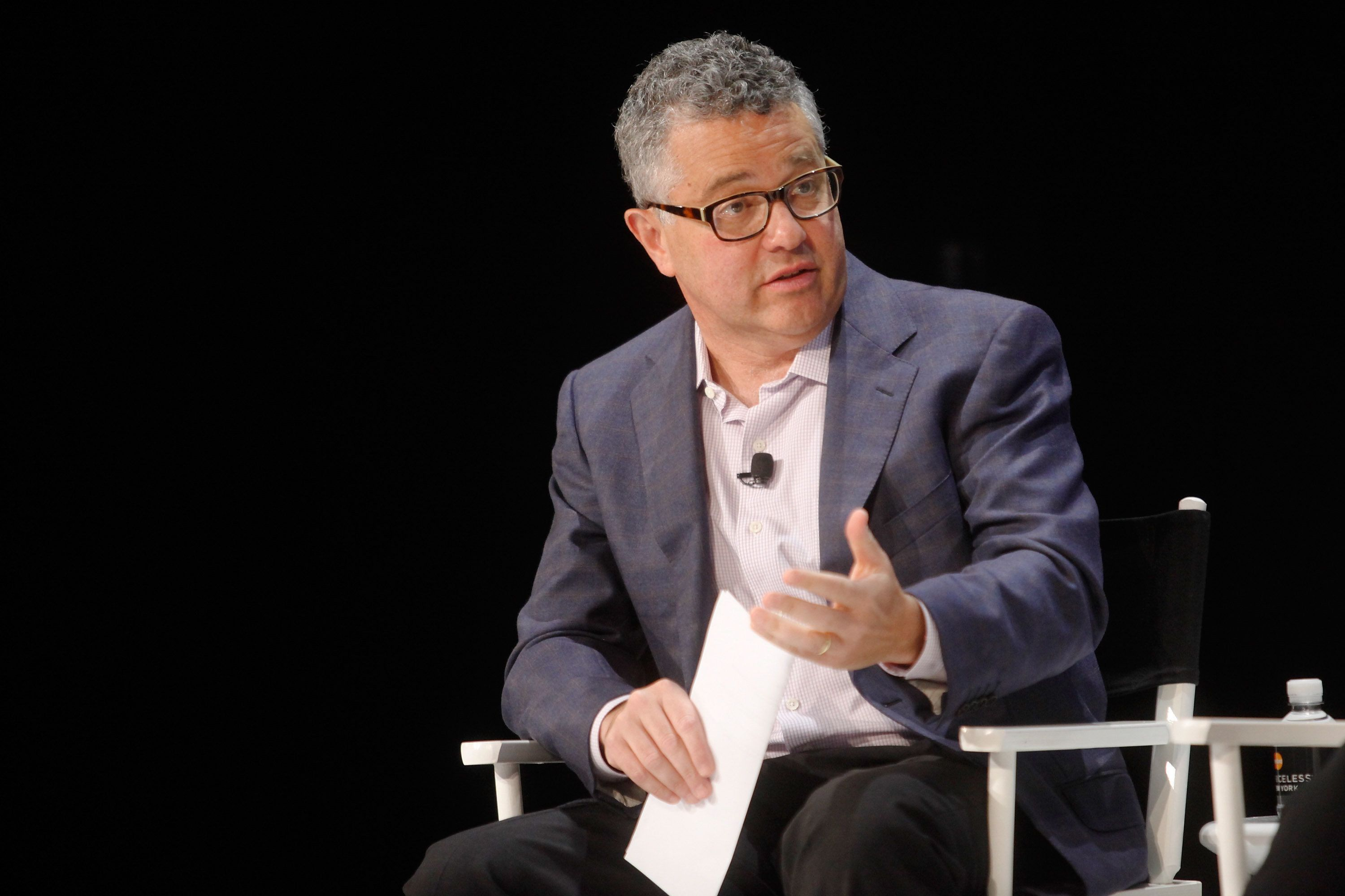 NEW YORK, NY - OCTOBER 11:  Moderator Jeffrey Toobin participates in a panel discussion during the New Yorker Festival at Acura at SIR Stage37 on October 11, 2014 in New York City.  (Photo by Thos Robinson/Getty Images for The New Yorker Festival)