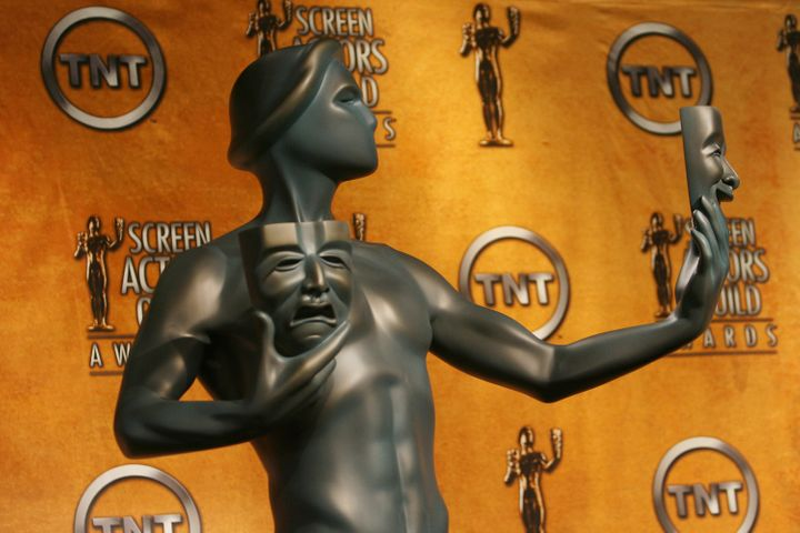 A Screen Actors Guild statue.