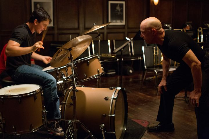 Actors Miles Teller and J.K. Simmons play a jazz student and teacher.