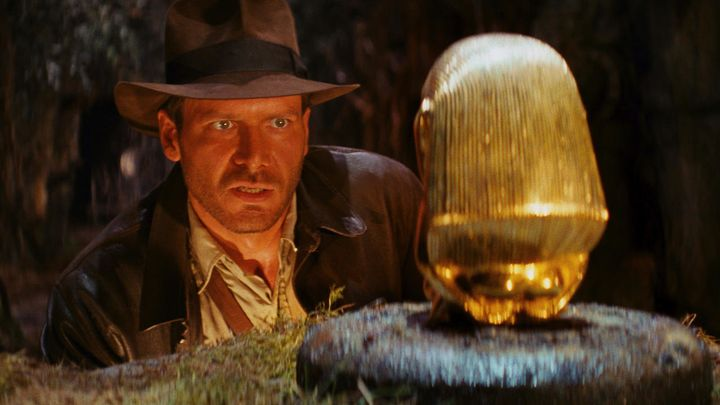 Actor Harrison Ford as the iconic Indiana Jones.