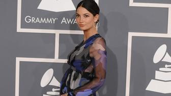 LOS ANGELES, CA - FEBRUARY 12:  Lily Aldridge  arrives at The 54th Annual GRAMMY Awards at Staples Center on February 12, 2012 in Los Angeles, California.  (Photo by Steve Granitz/WireImage)