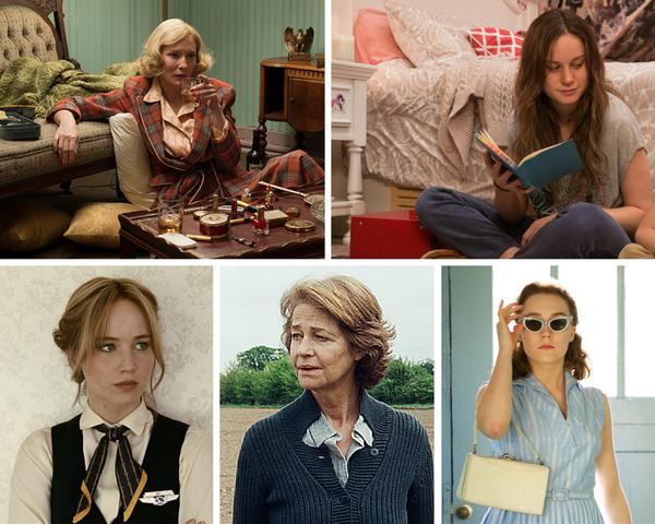 "<strong>Nominees:</strong>Cate Blanchett, ""Carol"" / Brie Larson, ""Room"" / Jennifer Lawrence, ""Joy"" / Charlotte Ramplin"