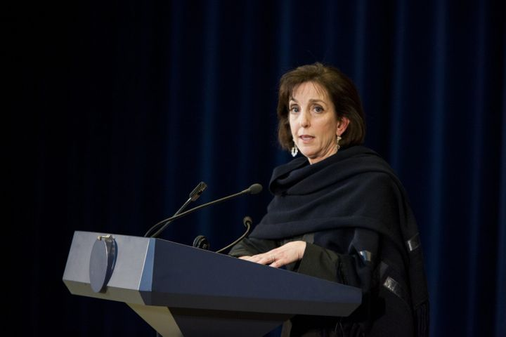 Roberta Jacobson speaks at a press conference on Feb. 27, 2015. President Barack Obama has nominated Jacobson as the new amba