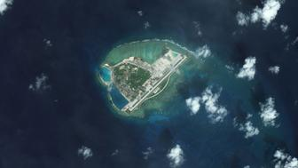 WOODY ISLAND, SOUTH CHINA SEA - JANUARY 9, 2016:  DigitalGlobe overview imagery from 09 January 2016 of Woody Island.  Woody Island is also known as Yongxing Island and Phu Lam Island and is the largest of the Paracel Islands in the South China Sea.  It has been under the control of the People's Republic of China since 1956.   (Photo DigitalGlobe via Getty Images)