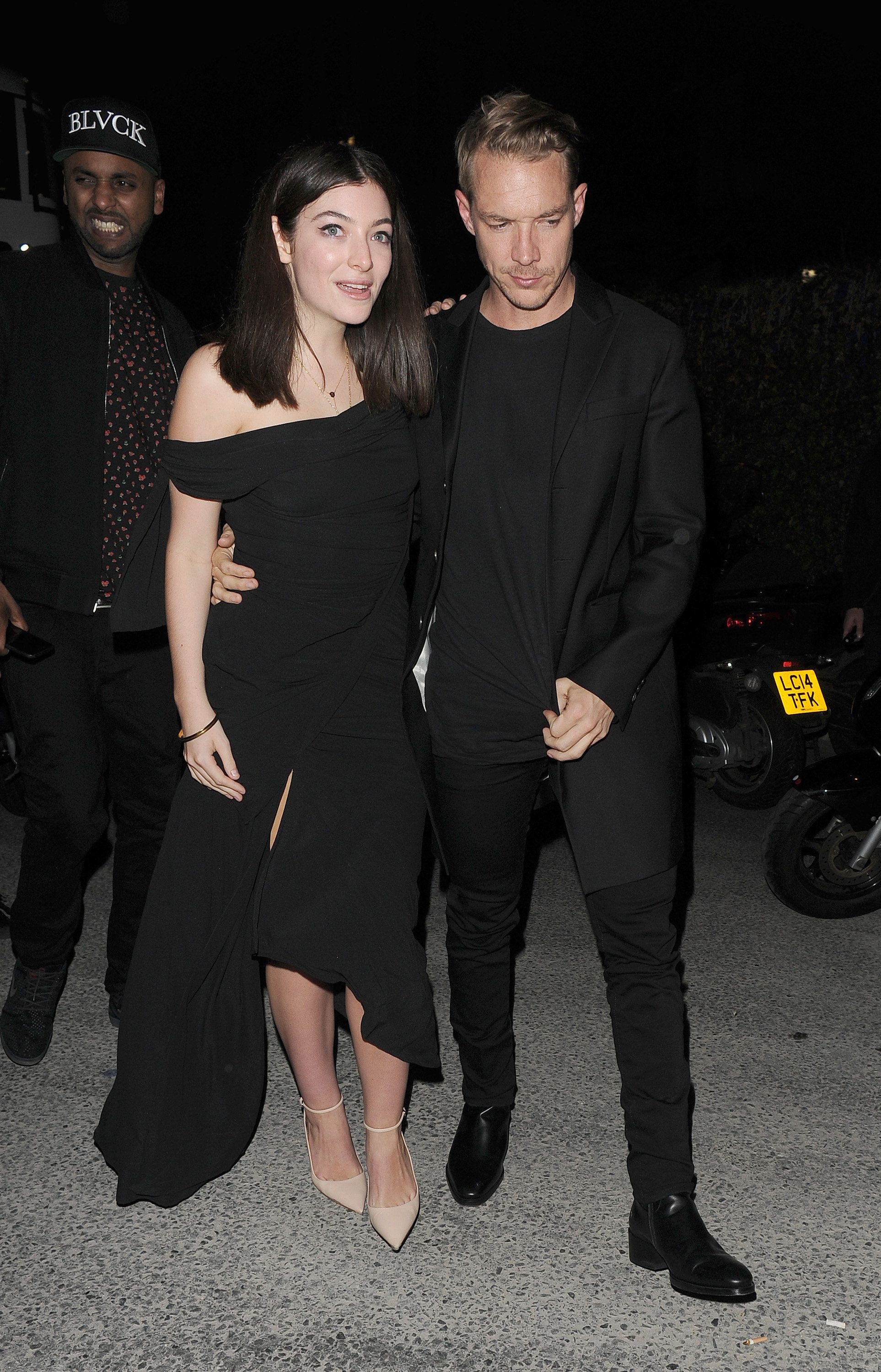 Lorde and Diplo attend a partyat Tape nightclub in Mayfair, following the Brit Awards.