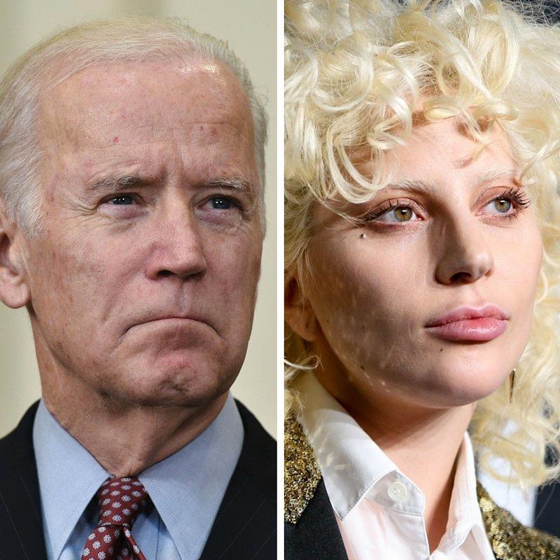 Vice President Joe Biden and Lady Gaga.