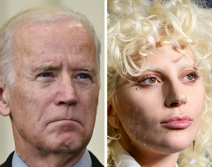 Vice President Joe Biden and Lady Gaga.