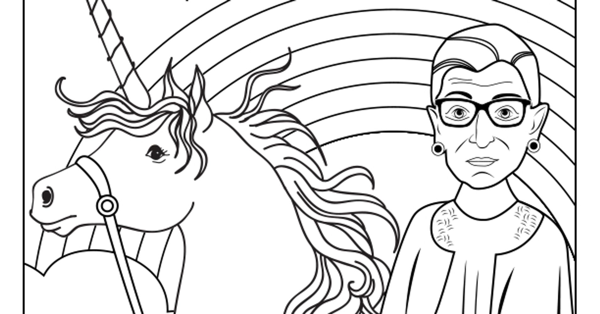 The Notorious RBG Coloring Book Of Our Feminist Dreams Is