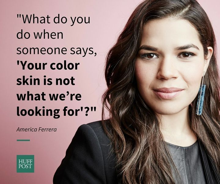 America Ferrera Painted Her Face White For An Audition To