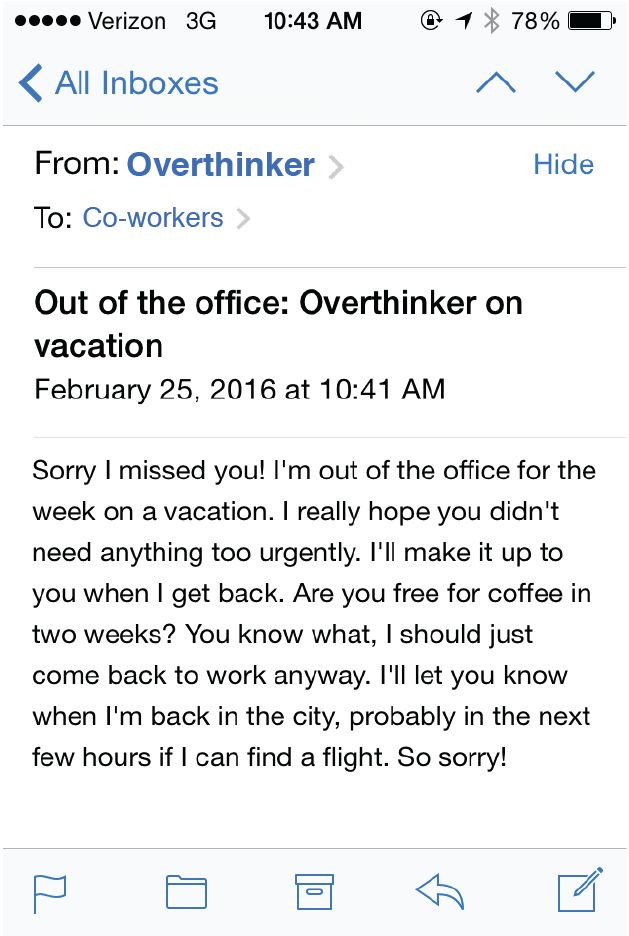 If Out Of Office Replies Were