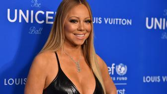 Mariah Carey arrives at the Sixth Biennial UNICEF Ball at the Beverly Wilshire Four Seasons Hotel on Jan.12, 2016 in Beverly Hills, Calif. (Photo by Jordan Strauss/Invision/AP)