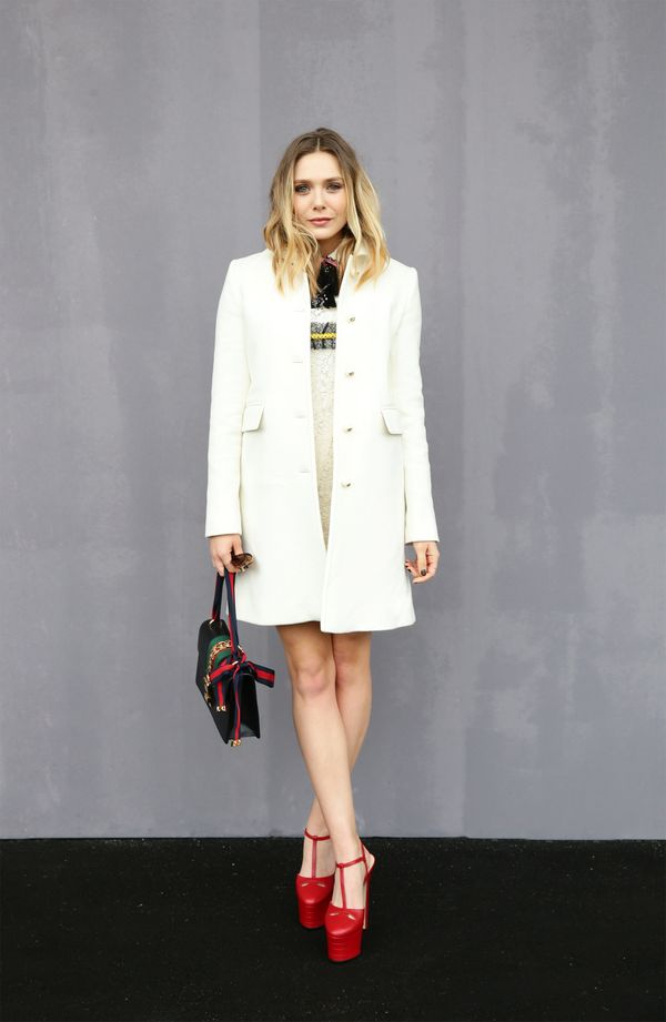 <strong>Elizabeth Olsen in Gucci:</strong> It looks like the youngest Olsen sister is making a name for herself in the f
