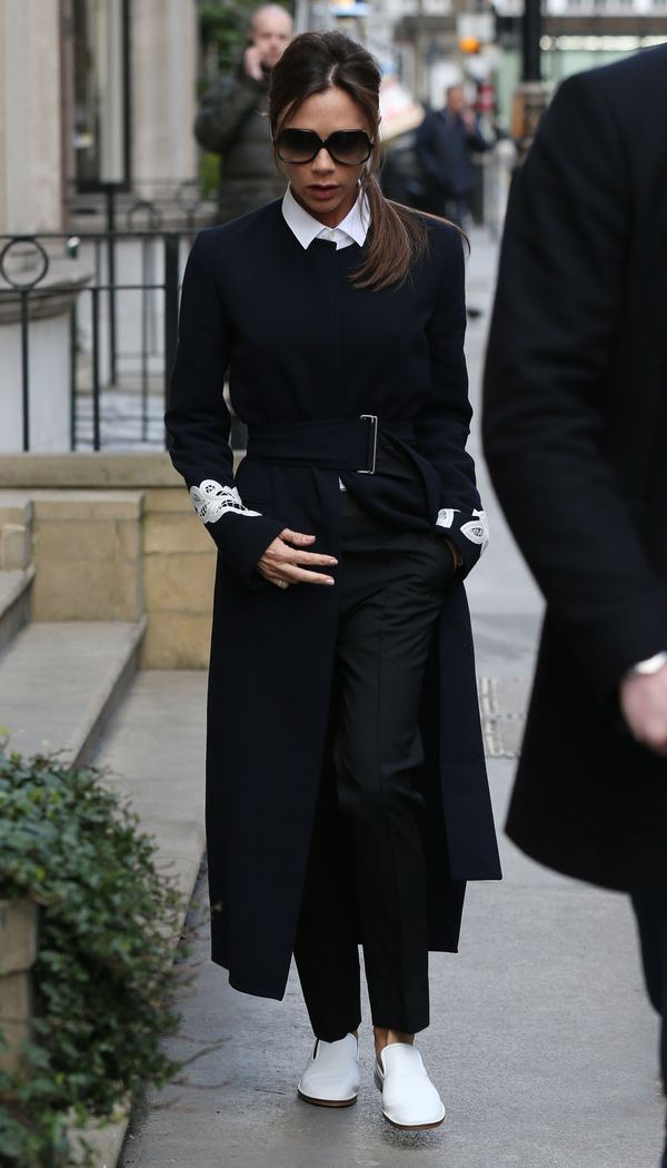 <strong>Victoria Beckham in Victoria Beckham:</strong> No one is a better model of Victoria Beckham's clothing than the