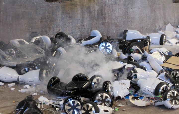 These potentially dangerous hoverboards were sentenced to an early grave.