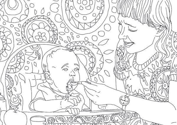 """You no longer have to worry about food stains while feeding your baby! <br>Now you can color in your outfit to match!!<"