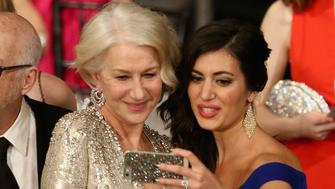 LOS ANGELES, CA - JANUARY 30:  Actress Helen Mirren (L) poses for a photo at The 22nd Annual Screen Actors Guild Awards at The Shrine Auditorium on January 30, 2016 in Los Angeles, California. 25650_018  (Photo by Christopher Polk/Getty Images for Turner)