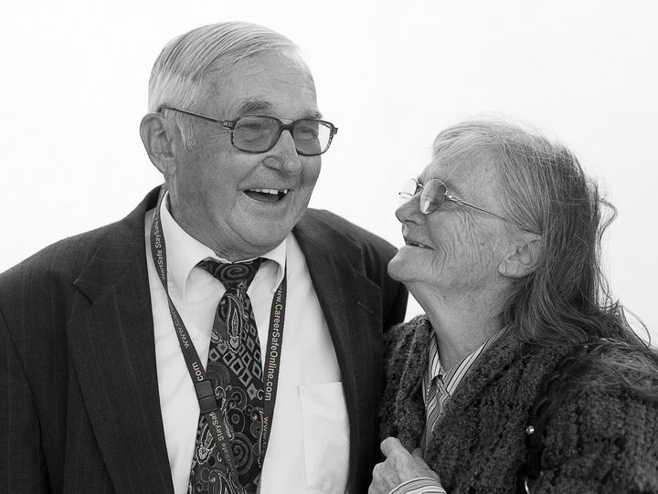 """He has a twin brother and I have a twin brother, and we rode the school bus together. I was in the third grade and he was in the sixth grade. We fell in love riding on the school bus and going to baseball games together."" <br />- <i>Helen & Lloyd, married 64 years at the time of the interview</i>"