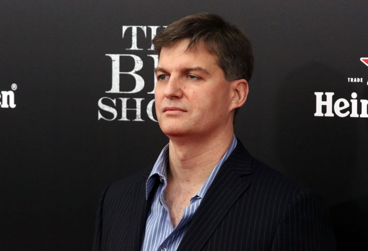 "The real Michael Burry at the ""Big Short"" premiere in New York on Nov. 23."