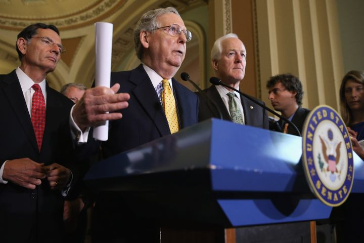 Senate Majority Leader Mitch McConnell and his GOP colleagues are facing tough questions over their vow to block the pre