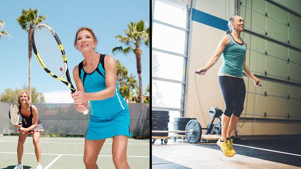 <strong>What to do: </strong>Tennis, dancing, hiking <br><strong>Why: </strong>Weight-bearing exercises like these help you m