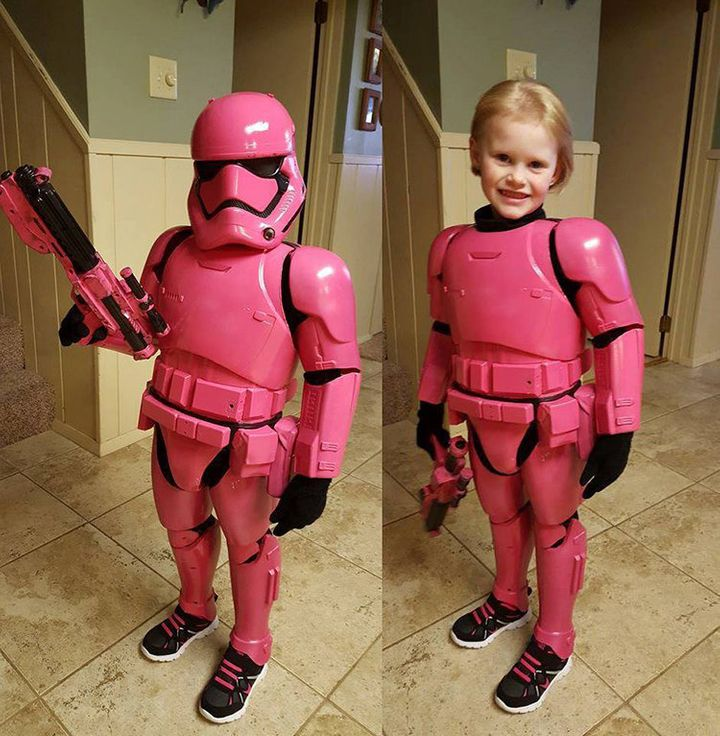 Possibly the world's most adorable Stormtrooper, Autumn Brock.