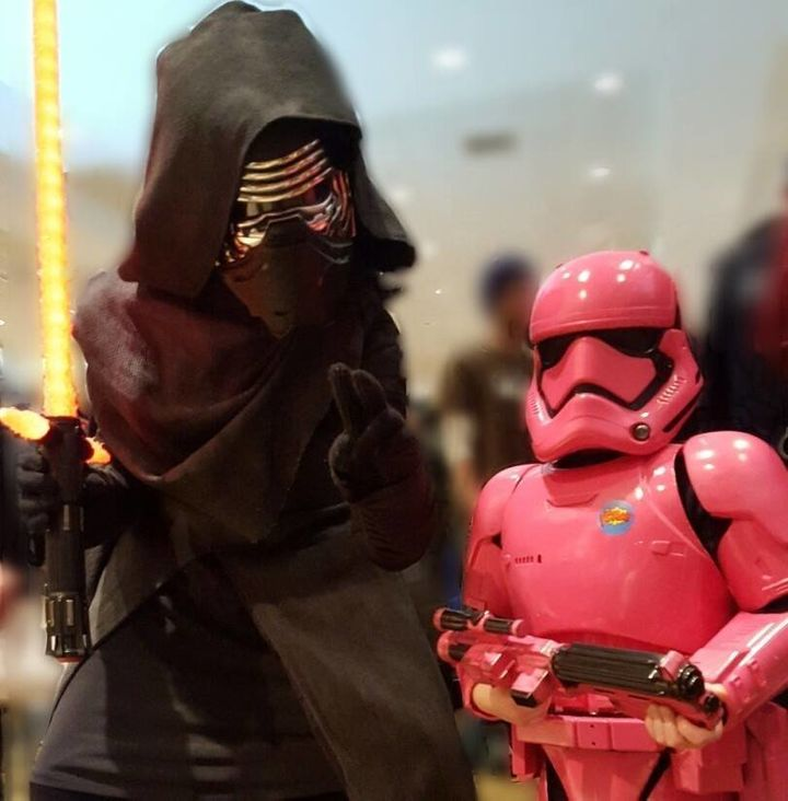 Autumn meets her hero, Kylo Ren.