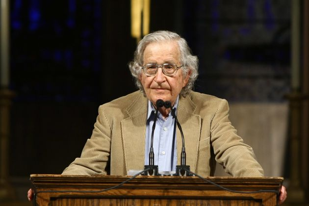 NEW YORK - JUNE 12: US linguist and political activist Noam Chomsky discusses the global economic crisis,...