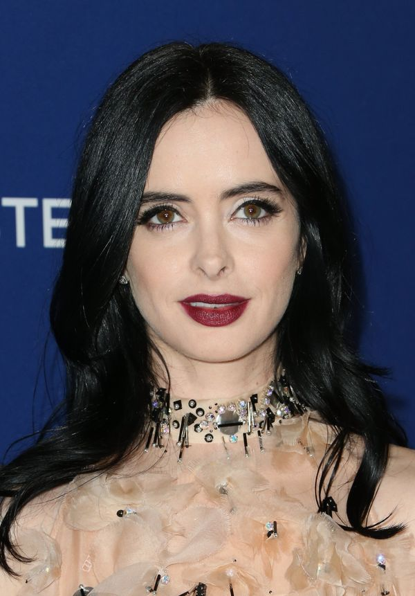 Ritter is the perfect example of why pale-skinned women <i>should</i> wear bold lipstick. Sophisticated hair and makeup