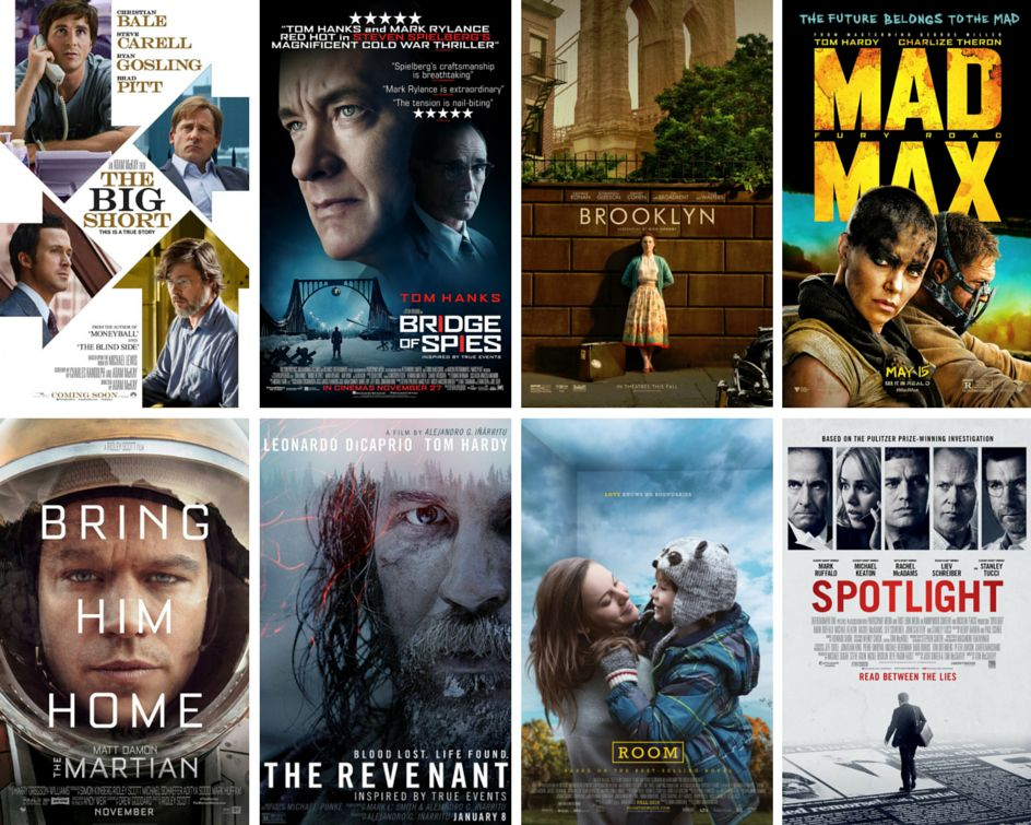 """<strong>Nominees:</strong>&nbsp;""""The Big Short,"""" """"Bridge of Spies,"""" Brooklyn,"""" """"Mad Max: Fury Road,"""" """"The Martian,"""" """"The Rev"""
